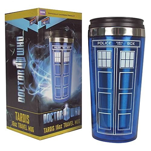 Crazy Cart-Doctor Who TARDIS 16 oz. Travel Mug