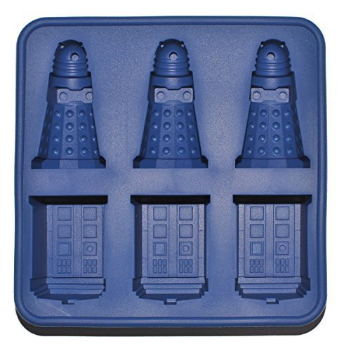 Doctor Who: Silicone Tardis and Daleks Ice Cube Tray and Chocolate Mold