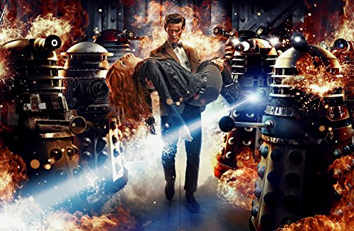Doctor Who UK Imported 17″ X 11″ 11th Doctor Carrying Amy Pond with Daleks Poster Print