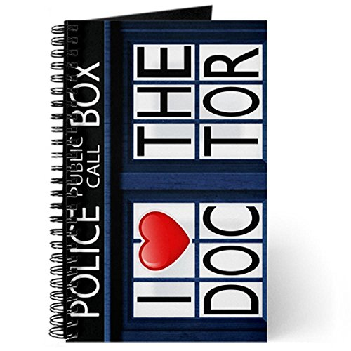 Journal (Diary) with Police Call Box I Love Doctor Who on Cover