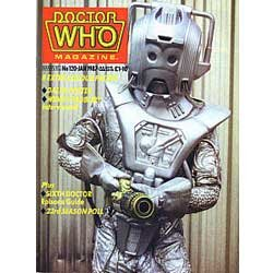Doctor Who The Official Magazine Issue #120 Jan 1987 Cybermen and Sixth Dr