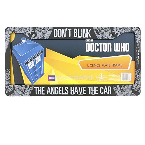 Doctor Who License Plate Frame – Don't Blink Weeping Angel Design 6.25″ x 12.25″