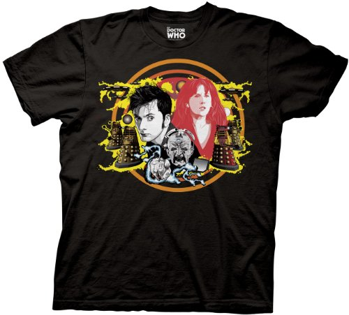 Doctor Who Tenth Doctor Donna T-shirt (Medium, Black)