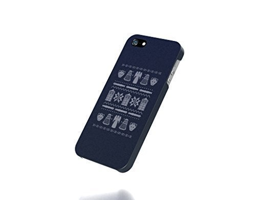 Apple iPhone 4 / 4S Case – The Best 3D Full Wrap iPhone Case – tardis dalek cybermen christmas jumper doctor who blue background weeping angel