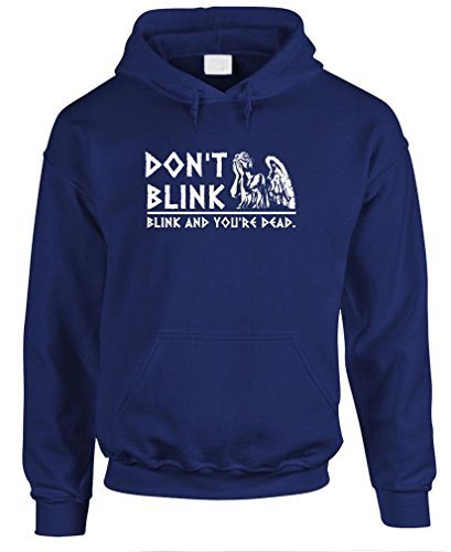 DON'T BLINK – weeping angels doctor amy Pullover Hoodie, S, Navy