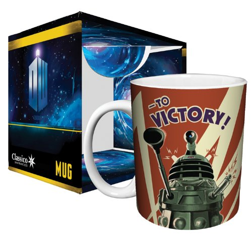 Doctor Who Dalek to Victory TV Television Show Ceramic Boxed Gift Coffee (Tea, Cocoa) 11 Oz. Mug