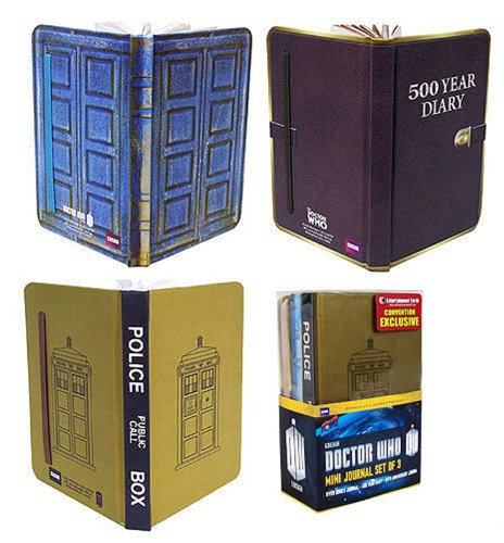 Doctor Who Mini-Journal Set of 3 – Convention Exclusive