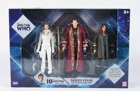 New BBC Doctor Who series 4 action figure set River Song Donna Noble The Narrator by Character Options
