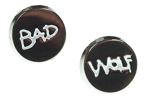 Doctor Who Bad Wolf Enamel Stud Earrings