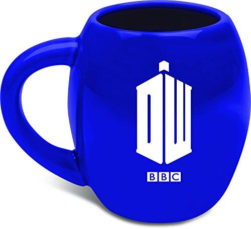 Vandor 16062 Doctor Who Oval Ceramic Mug, 18 oz, Blue