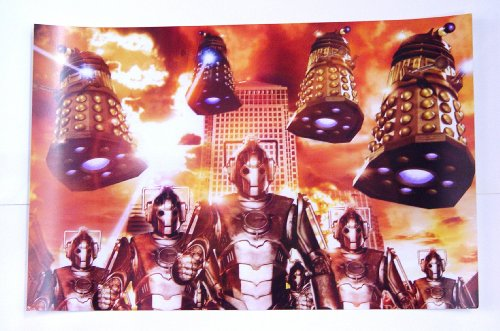 Dr. Who Montage of the Cybermen & the Daleks 11 x 17 Inch Poster – Lithograph