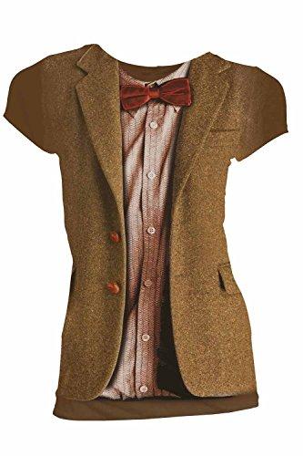 Doctor Who Matt Smith 11th (Chestnut) Juniors Shirt L