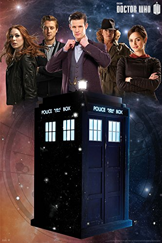 Doctor Who – GLOW IN THE DARK – TV Show Poster (The Doctor, The Tardis & The Season 7 Team) (Amy, Rory, Clara, River Song & The Doctor) (Size: 24″ x 36″)