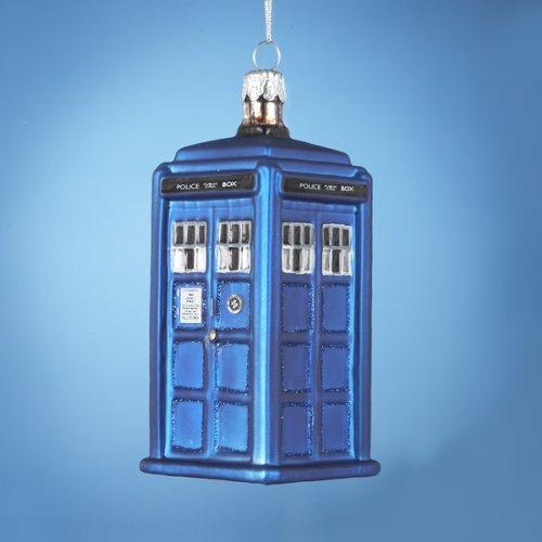 Kurt Adler Doctor Who Tardis Figural Ornament (Glass)