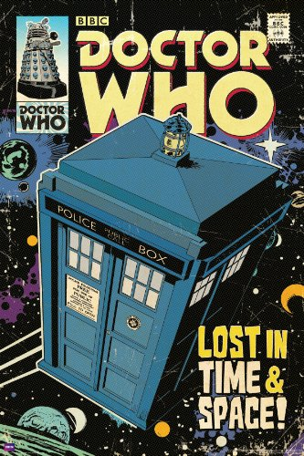 Doctor Who TARDIS Comic Book Cover Art Sci Fi British TV Television Show Poster Print 24×36