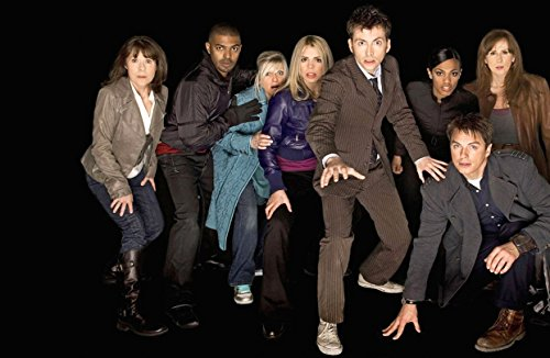 Doctor Who UK Imported 17″ X 11″ 10th Doctor, Rose Tyler, Captain Jack, Donna Noble, Sarah Jane Smith, 4th Season Cast Print