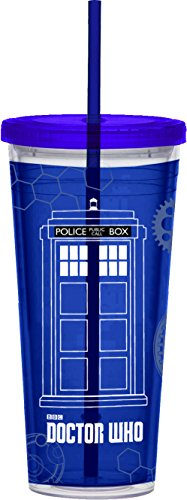 Vandor 16114 Doctor Who Acrylic Travel Cup, 24 oz, Blue