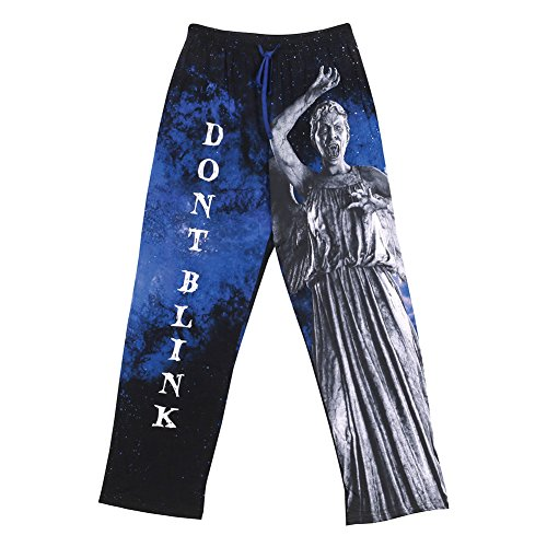 Unisex-Adult Doctor Who Weeping Angels Don't Blink Lounge Pants – 2X
