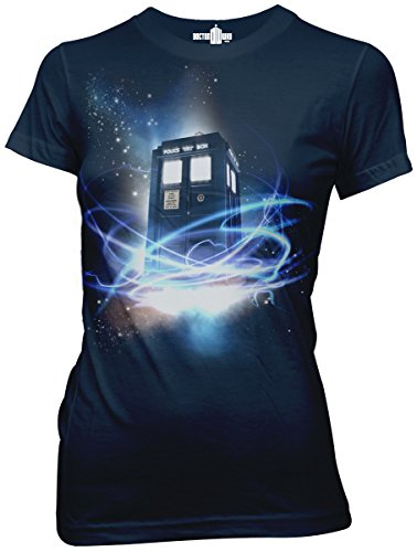 Doctor Who Tardis In Space Juniors Tee Ripple Junction AMZ 2XL