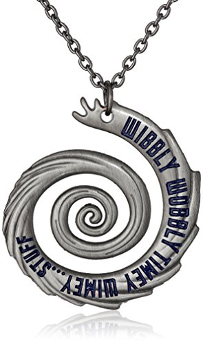Doctor Who 22″ Wibbly Wobbly Timey Wimey Pendant Necklace (Silver-Tone)