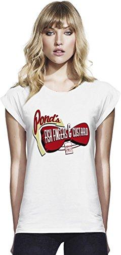 Fish Fingers & Custard Womens Continental Rolled Sleeve T-Shirt Medium