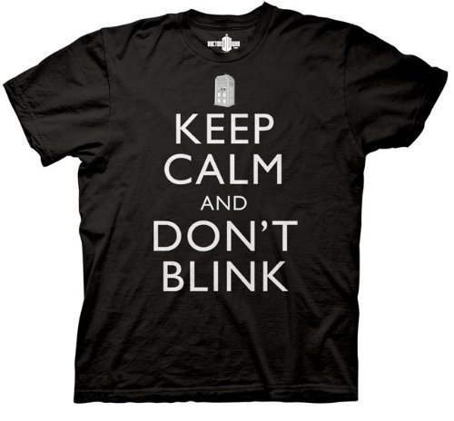 Doctor Who Keep Calm And Don't Blink T-shirt (2XL, Black)