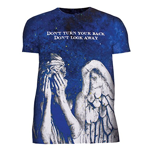 Unisex-Adult Doctor Who Weeping Angels Don't Blinkt-Shirt – Crewneck T-Shirt – Small