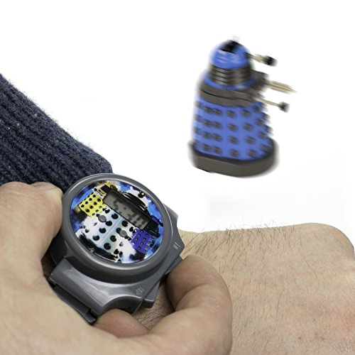 Doctor Who Digital Watch – Dalek Whizz Watch With Mini Remote Controlled Figure and Keychain