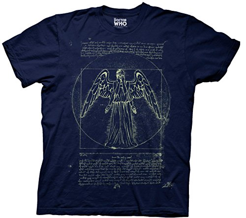 Doctor Who Vitruvian Weeping Angel Glow In The Dark Ripple Junction AMZ XL