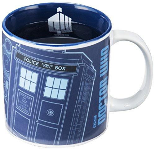 Vandor 16261 Doctor Who 20 Ounce Heat Reactive Ceramic Mug, Blue