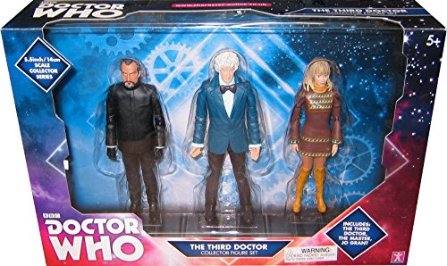 Doctor Who The Third Doctor Collector Action Figure Set: 3rd Dr, Jo Grant, Master