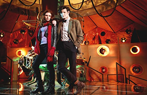 Doctor Who UK Imported 17″ X 11″ 11th Doctor with Amy Pond in the TARDIS Print