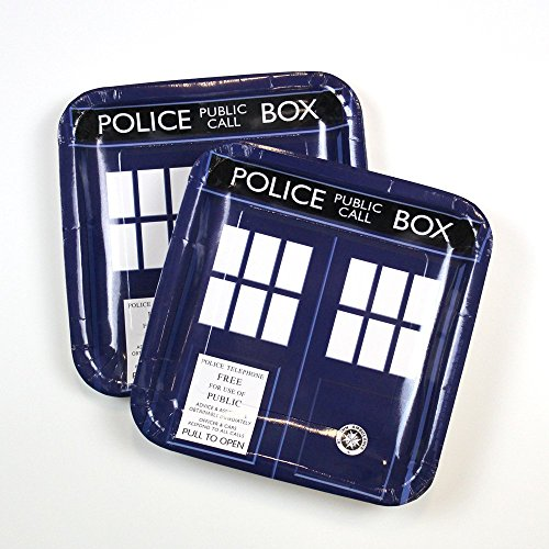 Underground Toys Doctor Who Large Party Plates, Set of 8
