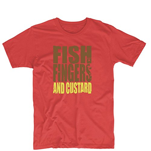 Fish Fingers Custard Dr Who Mens & Womens Funny T Shirt Printing Tee