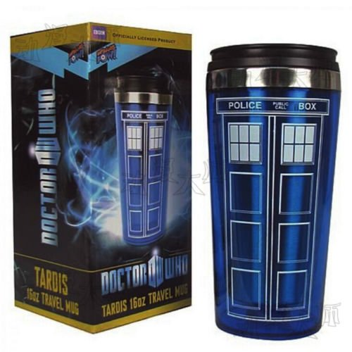 Doctor Who Tardis Mug Stainless Steel Cup Travel Mug Police Box Pattern Cup