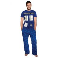 Unisex-Adult Doctor Who Tardis Glow In The Dark Lounge Set – Sleep Pants & T-Shirt