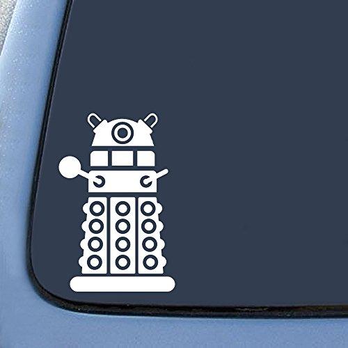 DALEK Sticker Decal Notebook Car Laptop 4″ (White)