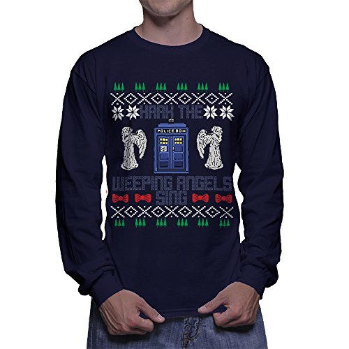 Hark The Weeping Angels Sing Tacky Christmas Sweater Styled Shirt