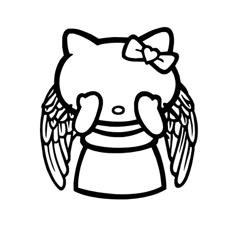 Doctor Who Vinyl Decal, Weeping Angel Stickers, Hello Kitty Vinyl Decal, Hello Kitty Weeping Angel